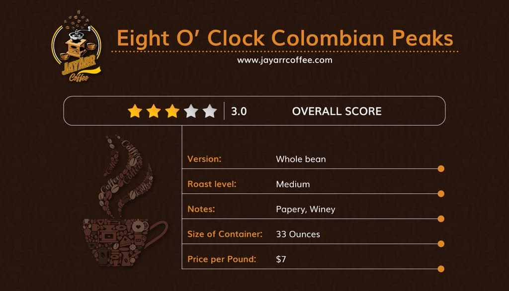 Eight O'Clock Coffee Review