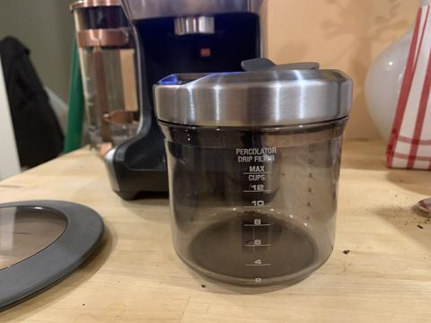 Breville coffee receptacle