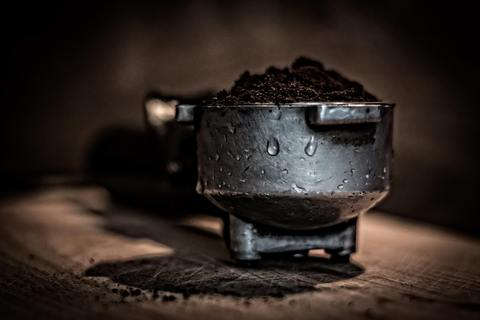 dark coffee grounds