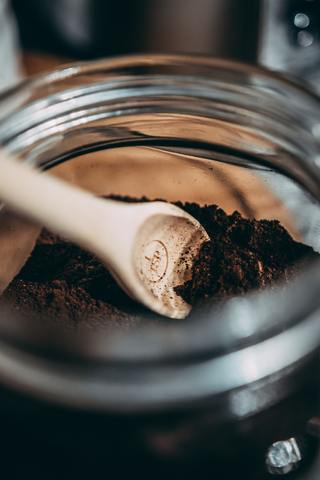 coffee grounds jar